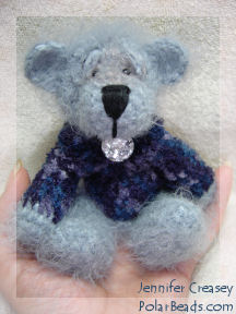 Miniature Crochet Teddy Bear by Jennifer Creasey