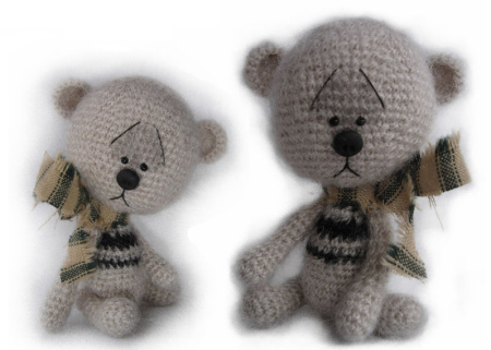 Amigurumi Teddy Bear Free Patterns : B.e.a.r.s. by jen miniature crochet collectable teddy bears and