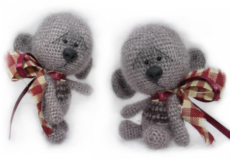 Amigurumi Bear Nose : B e a r s by jen miniature crochet collectable teddy bears and