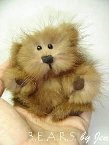 Miniature Fur Teddy Bear by Jennifer Creasey