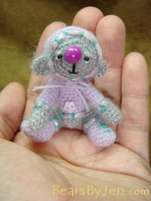 Miniature Teddy Bear by Jennifer Creasey